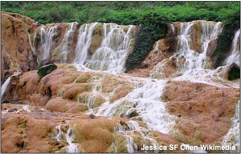 jinguashi golden waterfall