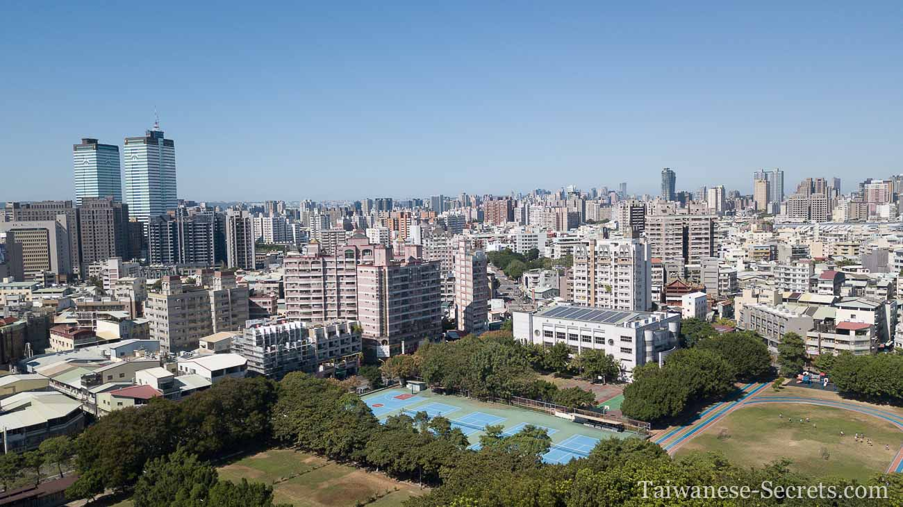 taichung city drone view november 2020