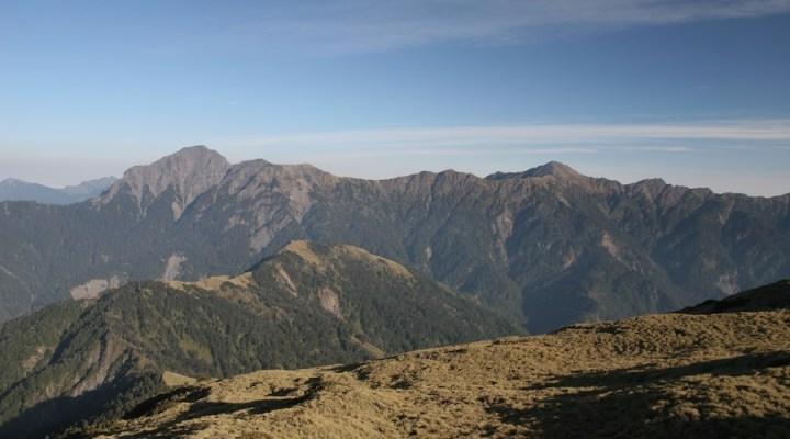 Taiwan central mountain range in taroko national park