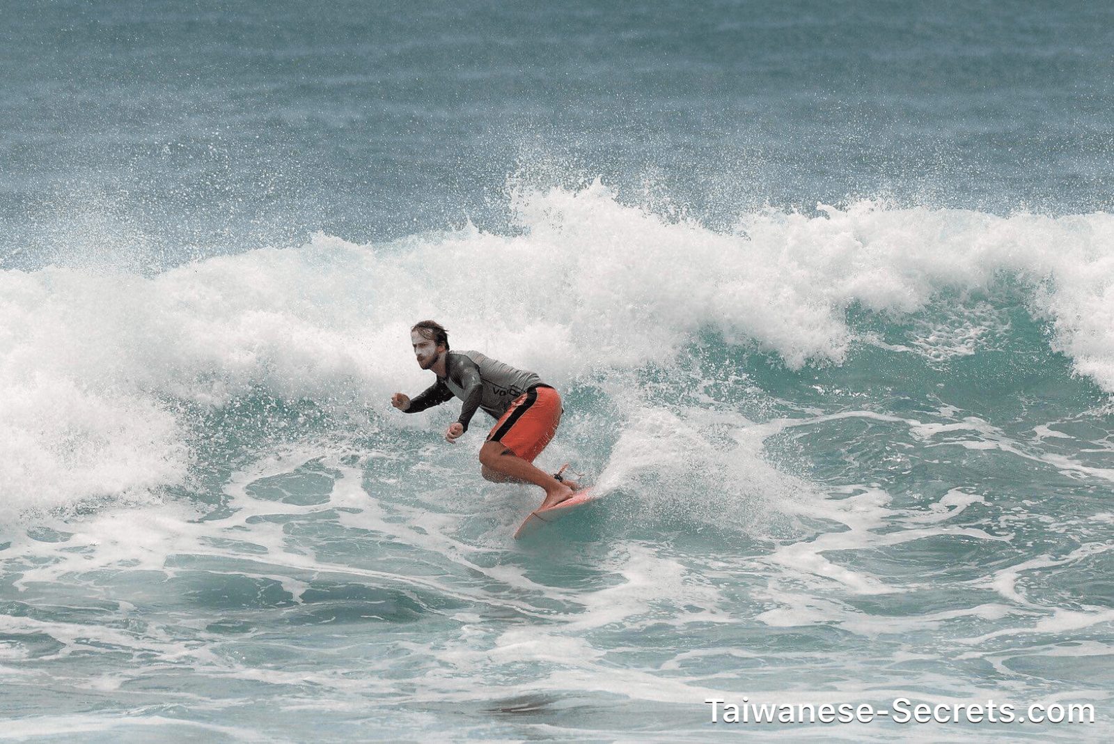 Surfing in taiwan
