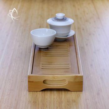 Long Bamboo Tea Tray Side View