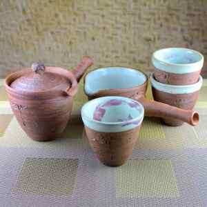 Smaller Kyusu Teapot and Pitcher Set with Tall Cups