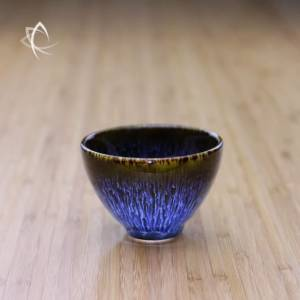Blue Hare's Fur Tall Refined Tea Cup