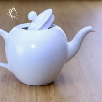 Large Mei Ren Jian Satin White Teapot Lid Open