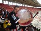 Álvaro Perales en el estadio del Rayo Vallecano