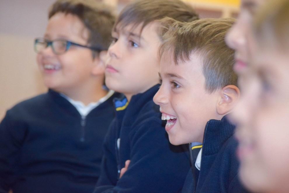 Alumnos de Primaria del colegio Tajamar de Madrid