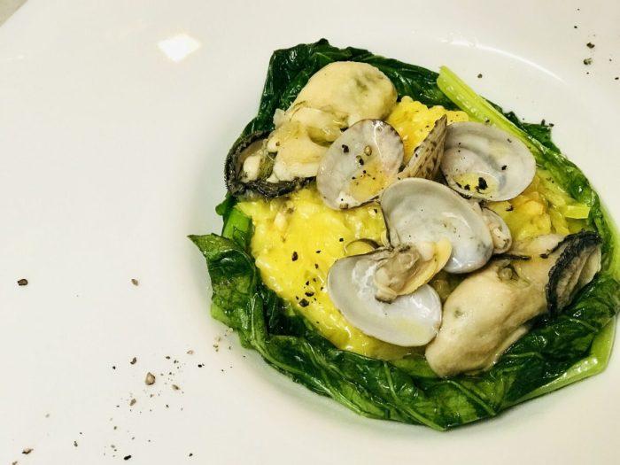 レシピ『玄米で作る牡蠣と浅利でミラノ風リゾット』
