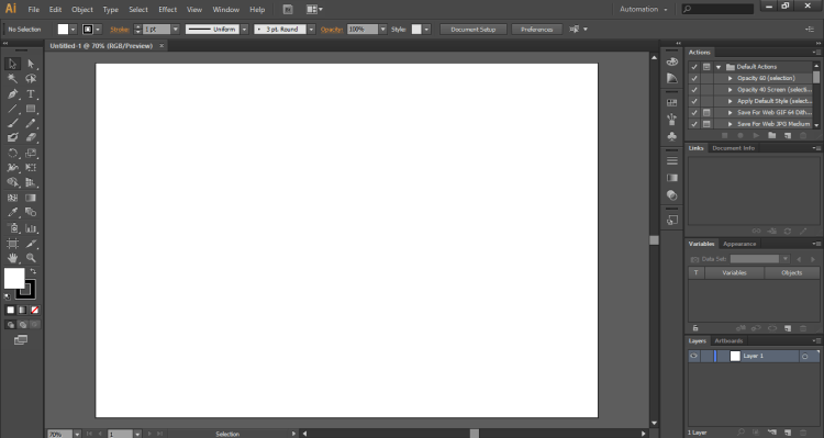 ruang kerja Adobe Illustrator CS 6