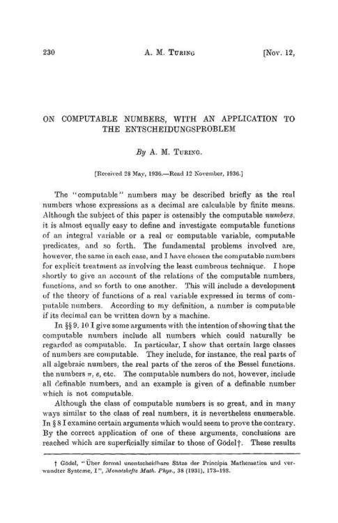 sejarah komputer pertama - jurnal alan turing