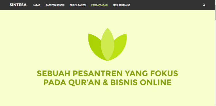 website pesantren snitesa