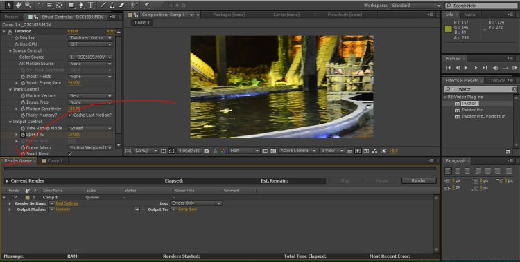 antrian render after effect - tutorial slow motion after effect