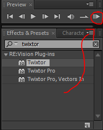 RAM Preview di after effect - tutorial slow motion after effect