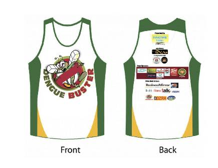 Run Against Dengue 2012 Singlet
