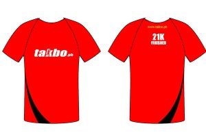 Takbo Runfest 2013 Shirt Design - Red