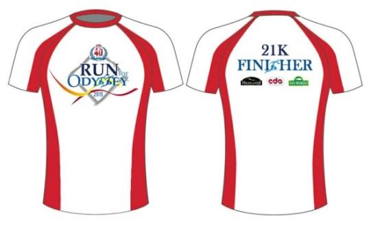 CDO @ 40 Run for Odyssey 2015 Finisher Shirt