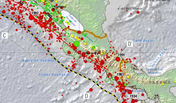 Seismic activity, by the US Geological Survey