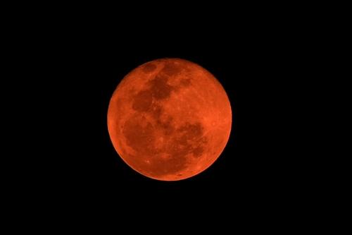 黄色い月の下で