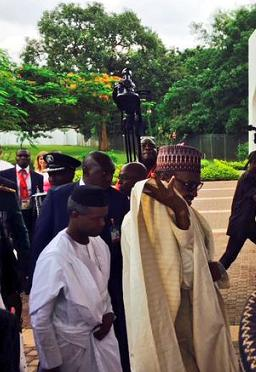 buhari osinbajo move aso rock
