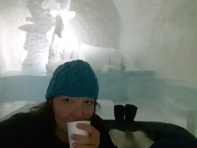 blabärsoppa in het ijshotel