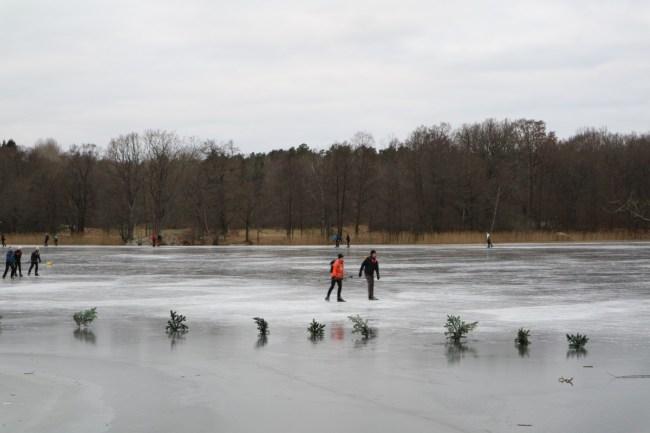 Hellasgarden in winter: skating on natural ice