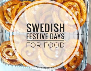 Swedish festive days for food