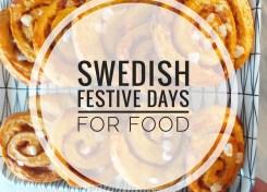 Swedish festive days for food