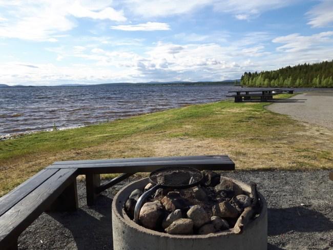 Grillplats Zweeds Lapland