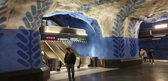 T-Centralen: kunst in de metro palmtakken