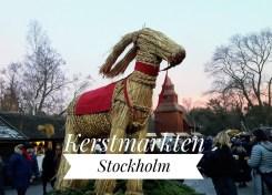 Kerstmarkt in Skansen - Stockholm