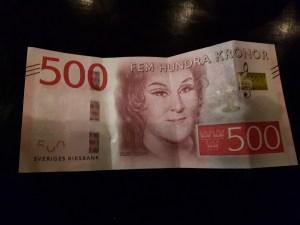 500 Zweedse kronen