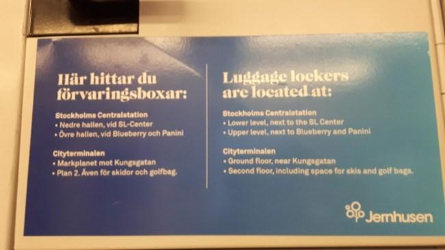 Lockers Stockholm Centralen