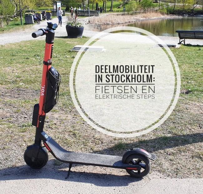 Deelmobiliteit in Stockholm - fietsen en elektrische steps