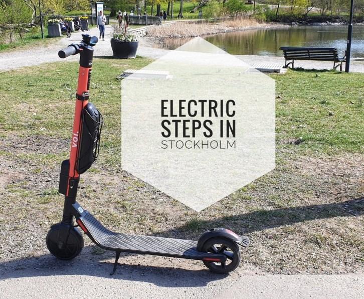 Electric steps in Stockholm
