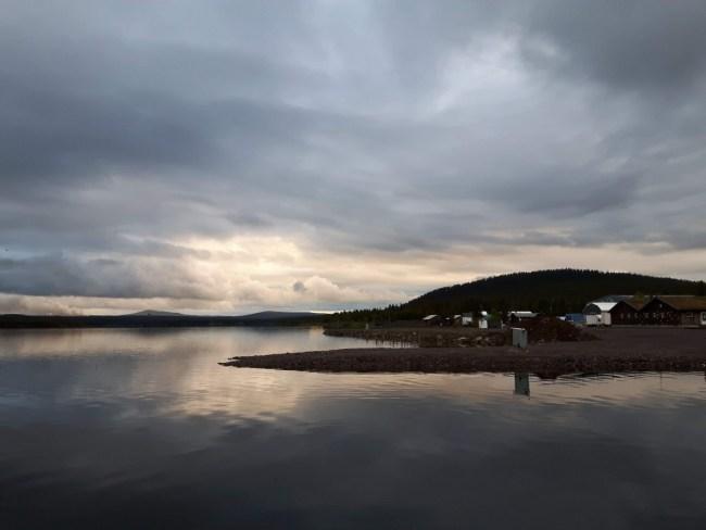 middernachtzon in Kiruna (Zweden)