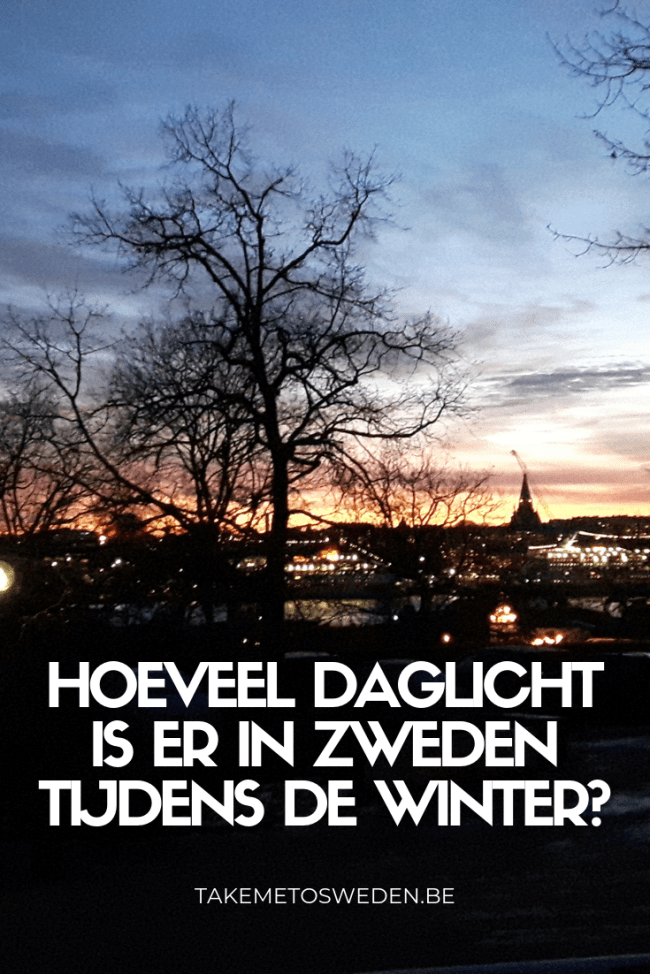 Hoeveel daglicht is er in Zweden in de winter?