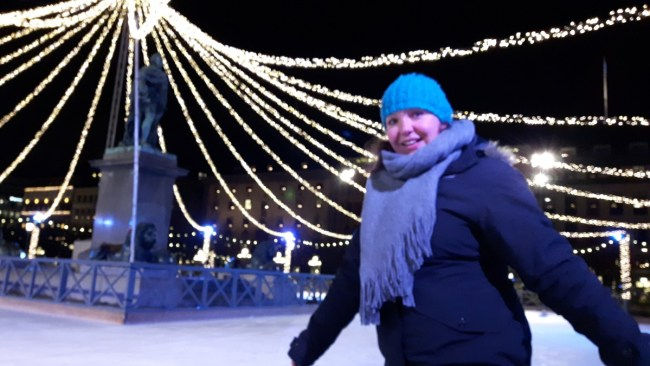 Schaatsen in Stockholm Kungsträdgården