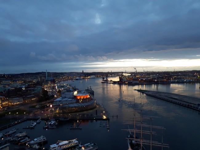 Uitzicht over Göteborg - Göta kanaal
