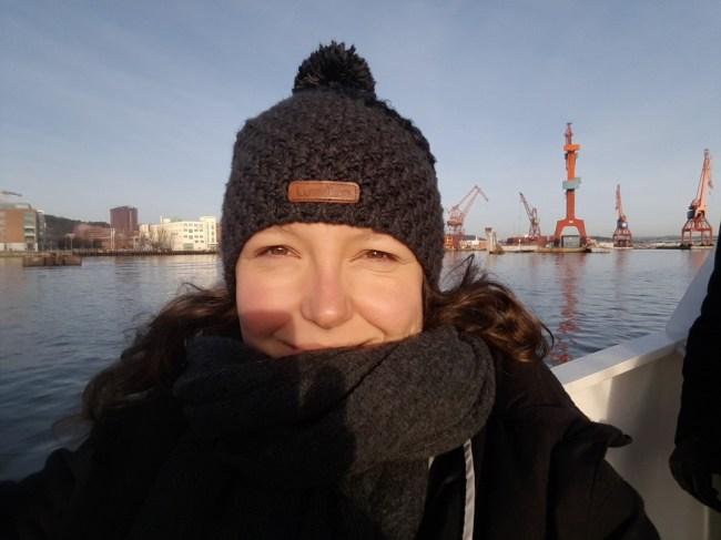 Op de overzetboot naar Eriksberg