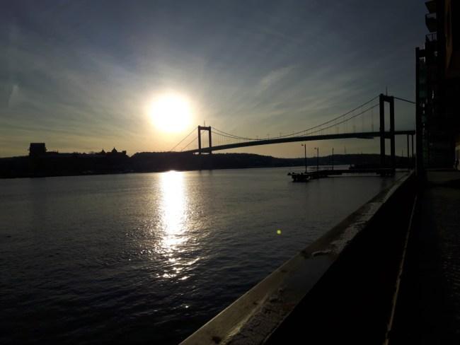 Zonsondergang Älvsborgbron
