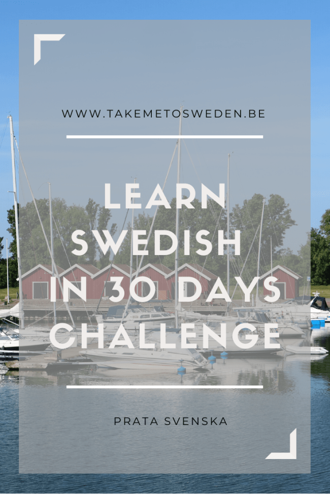 Learn Swedish in 30 days - challenge
