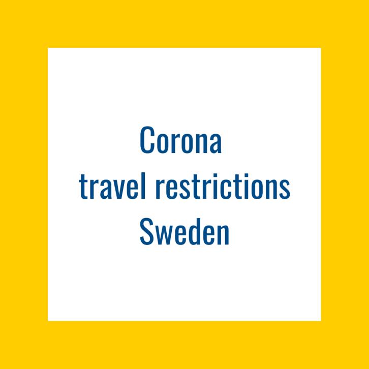 Corona travel restrictions sweden