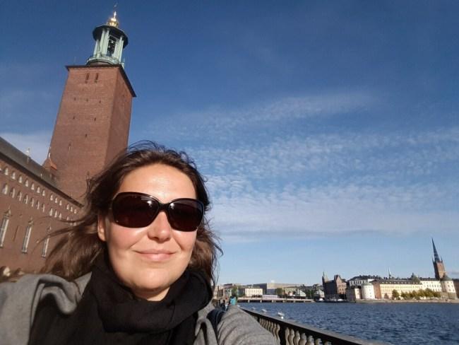 Selfie bij het Stadhuis van Stockholm