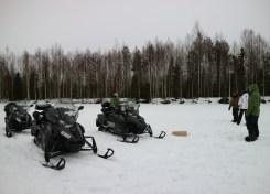 Tussenstop met de sneeuwscooter in Västerbotten