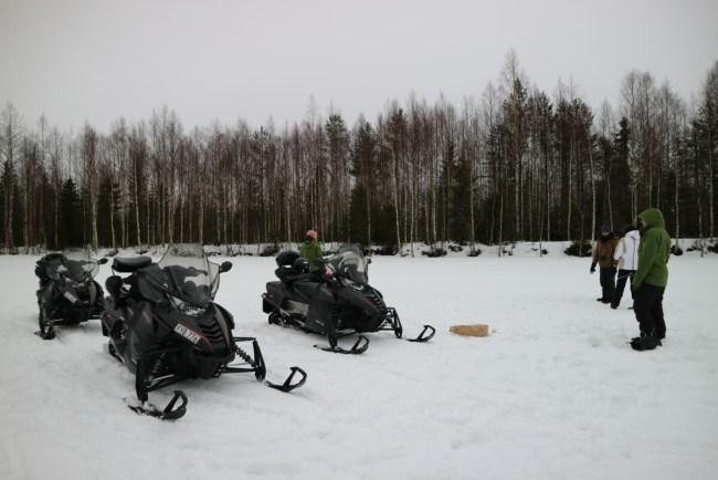 Onderweg met de sneeuwscooter