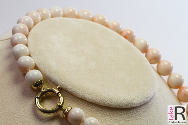 News Jewelry Extra Pink Coral Necklace 12-13mm
