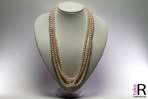 News Jewelry Freshwater Pearls Necklaces L200cm