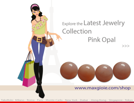News Jewelry Pink Opal