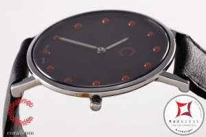 Corallium Watch 40mm Swiss movement with coral id01m