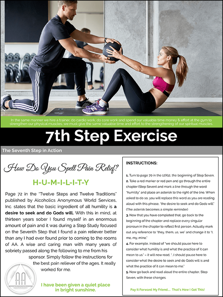 7th Step Exercise