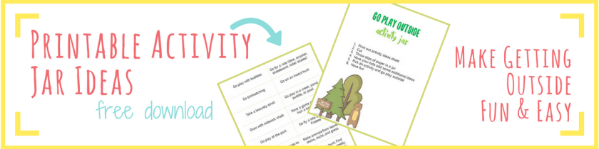 Get these free printable outdoor activity jar ideas